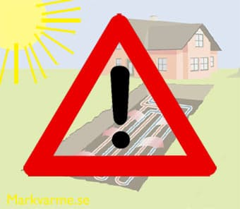 Varning när du installerar markvärme